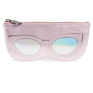 Rebecca Minkoff Cat Eye Sunnies Leather Pouch